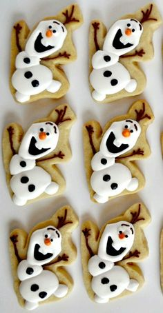 How to Make Olaf Cookies   via #TheCookieCutterCompany