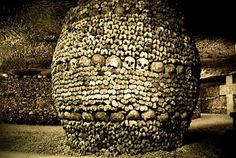 The Catacombs of Paris holds the remains of about 6 million people