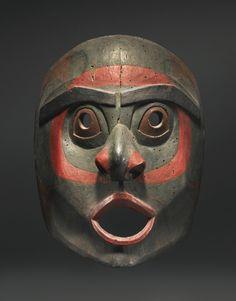 Northwest Coast Polychromed Wood Mask, probably Heiltsuk (Bella Bella) or Haisla | Lot | Sotheby's
