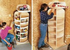 Other good shelving ideas on the site!