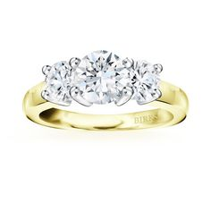 <3 My dream ring!!!!   Birks Collection, 3-stone Diamond Engagement Ring, in 18kt Yellow and White Gold