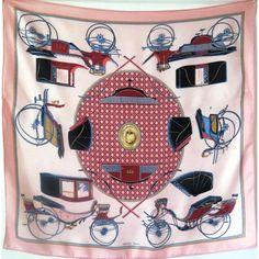 hermèsLesVoituresàTransformation, FrançoisdelaPerrière, foulard soie,onlyauthentic, hermès silk scarf,hermès sciarpa, seidetuch