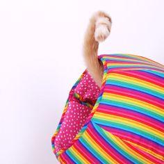 Nyan Cat Ball Rainbow Kitty Cave Bed van TheCatBall op Etsy, $69.00