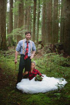Lumberjack Wedding Shoot
