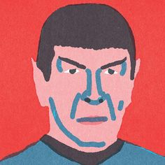 """Spock """"Quick Portraits"""" by Lorenzo Gritti Spock, Illustration Artists, Illustrations, Star Trek Series, Naive, Portraits, Book Worms, Movie Stars, Graphic Art"""