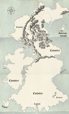 How to Make a Fantasy Map by Abria Mattina of Bee Splendid