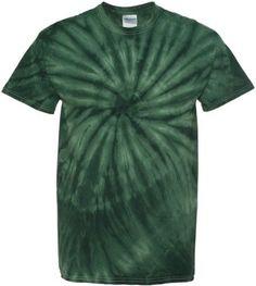 Tie-Dyed Cyclone Pinwheel Short Sleeve Tie-Dye T-Shirt. 200CY, Men's, Size: Medium, Green