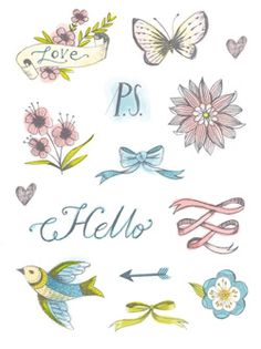 #DearMom P.S. Hello! (Stickers from Pretty Please stationery by Hello!Lucky)