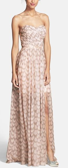 Too much for the rehearsal dinner? What if I wear it to a wedding and the rehearsal dinner? Does that justify $400 for a dress? Blush gown with foiled embellishments http://rstyle.me/n/vyiuwn2bn
