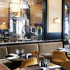 A Storied Restaurant in Paris Gets a Mod Makeover : Architectural Digest
