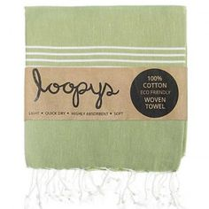 New Khaki Original Turkish Towel.  Premium quality.  Made by Loopys