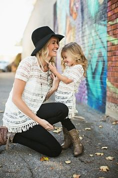 matching mama and daughter