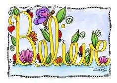 """Ribbon Believe"" by Debi Payne Designs"