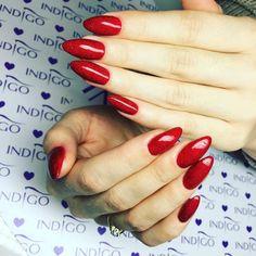Gel Polish Catwalk by Ania Leśniewska Indigo Educator Ostrołęka #nails #nail #winter #winternails #omg #wownails #red #rednails