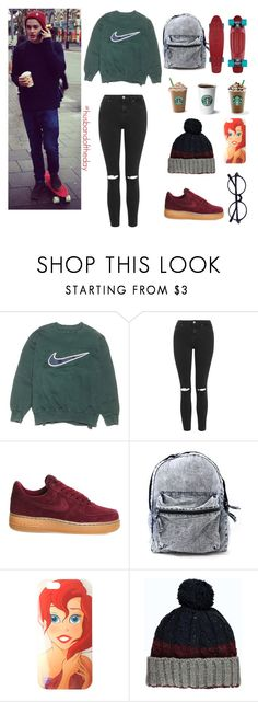 """""""Hotd6"""" by tekla-476 ❤ liked on Polyvore featuring NIKE, Topshop, Disney, women's clothing, women's fashion, women, female, woman, misses and juniors"""