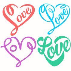 Love Heart Designs SVG Cuttables