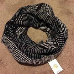 Tory burch infinity scarf Brand new Tory burch infinity scarf. Great to use as an accessory. Not too heavy. Tory Burch Accessories Scarves & Wraps