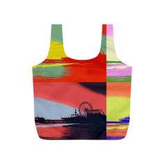 Santa Monica Pier Pop Art Reusable Bag (S)