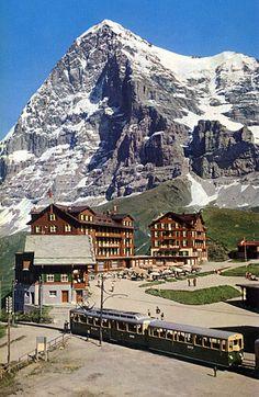 Switzerland.......Kleine Scheidegg - I think this is my favourite spot on Earth somehow