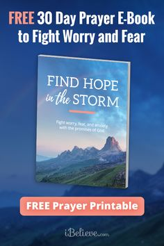 Learn how to overcome worry and fear with this free e-book filled with the promises of God! Prayer Scriptures, Bible Prayers, Faith Prayer, Prayer Quotes, Bible Verses, Prayer For Guidance, Power Of Prayer, Printable Prayers, Everyday Prayers