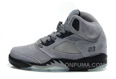 http://www.onpuma.com/air-jordan-5-retro-suede-cool-grey-black-offres-spciales.html AIR JORDAN 5 RETRO SUEDE COOL GREY BLACK OFFRES SPÉCIALES : $88.00