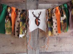 Deer Head High Chair Banner Wild One Highchair Fabric Garland Decoration Photo Prop Hunting Hunter Deer Print Camp Woodland Lumberjack Camo Hunting Birthday, Hunting Party, Hunter Deer, Garland Decoration, 1st Birthday Pictures, Fabric Garland, Deer Print, High Chair Banner, Hanging Photos