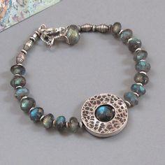 Labradorite+Sterling+Silver+Bracelet+Circle+of+Life+by+DJStrang