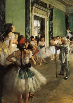 Artist: Edgar Degas  The Ballet Class  Start Date: 1871  Completion Date:1874  Style: Impressionism , from Iryna