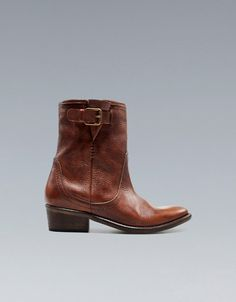 COWBOY ANKLE BOOT - Trf - Shoes - Woman - ZARA United States