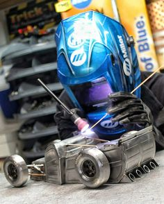 Hot rod inspired by all motorsports metal art welding
