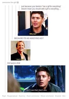 "#Supernatural ""We Have a Gif For That"""