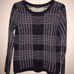 Gap Black & White Acrylic/Wool Sweater Size Small NWT Gap Black & White Acrylic/Wool Sweater Size Small. 75% Acrylic 25% Wool. Great to layer and keep you warm. GAP Sweaters Crew & Scoop Necks