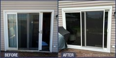 Before & After Gliding Patio Door Replacement by Opal Enterprises