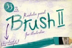 Best 33 Realistic Paint Brushes For AI  CreativeWork247 - Fonts, Graphics, ...