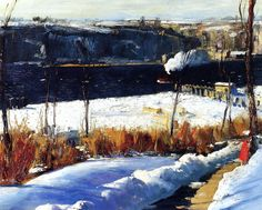 George Wesley Bellows, Winter Afternoon, 1909