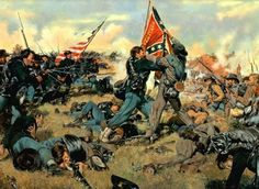 American Civil War: The Battle of Gettysburg - Learning History Military Art, Military History, American Civil War, American History, Gettysburg Battlefield, Civil War Art, Civil War Photos, Historical Art, Historical Society