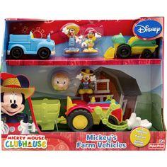 Fisher-Price Disney Mickey Mouse Clubhouse Mickey's Farm Vehicles Farm Animal Birthday, Farm Birthday, 3rd Birthday Parties, Birthday Stuff, Mickey Mouse Toys, Disney Mickey Mouse Clubhouse, Party Themes, Party Ideas, Gift Ideas