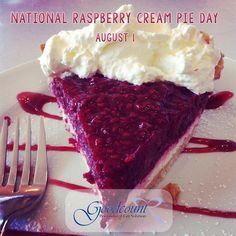 It's National Raspberry Cream Pie Day with Goodcount, where sweet memories stay crystal clear! Unusual Holidays, Wacky Holidays, Raspberry Cream Pies, Cream Cheese Pie, 3d Laser, Prince Edward Island, Crystal Gifts, Sweet Memories, Preserves