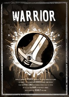 World of Warcraft: Warrior Class Symbol print/poster by SodaArcade