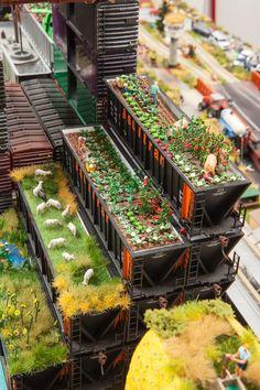 Kim Adams, Artist's Colony (Gardens) (detail), 2012-13