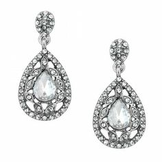 Jon Richard Navette surround crystal peardrop earring  code:JRER033120