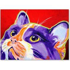 Trademark Fine Art Cat Issa Canvas Art by DawgArt, Size: 24 x 32, Multicolor