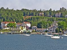 Cruising the Great Lakes means stops at some iconic American destinations, like car-free Mackinac Island.