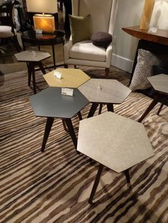 Hexagon Tables, Use Alone As A Side Table Or Combine To Form A Coffee Table
