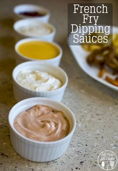French Fry Dipping Sauces - Three easy homemade french fry dipping sauces, fry sauce, cheese sauce and garlic aioli, perfect for game day. #GameTimeGrub #ad French Fry Sauce, French Fry Seasoning, French Sauces, Dipping Sauces, Cheese Dipping Sauce, Aioli Sauce, Marinade Sauce, Smash Sauce Recipe, Cheese Sauce Recipe For Fries