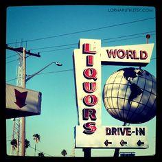 5x5 World Liquors St Petersburg Florida Print Square by lornaruth, $12.00