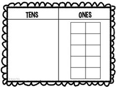 "This mat is the perfect way to help your students grasp place value concepts. The ten frame also illustrates concepts like ""how many more do we need to make the next ten?"" in a concrete, hands on way. Enjoy!"