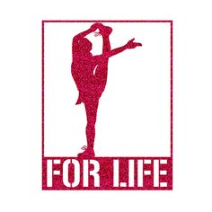 FOR LIFE Cheer Pose Iron On Decal by GirlsLoveGlitter on Etsy