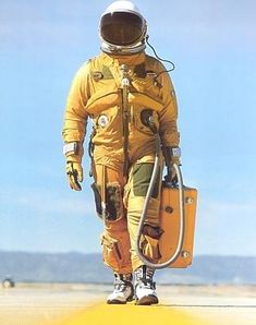 US high altitude spy plane pressure suit. This is what my SR-71 and U-2 pilots wore.