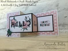 The Craft Spa - Stampin' Up! UK independent demonstrator : The other A6 Double Z Joy Fold Card with Tutorial
